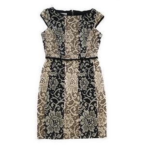 MAGGY LONDON Lace Printed Cap Sleeve Dress Size 10